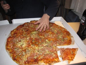 Paikalllinen perhe pizza