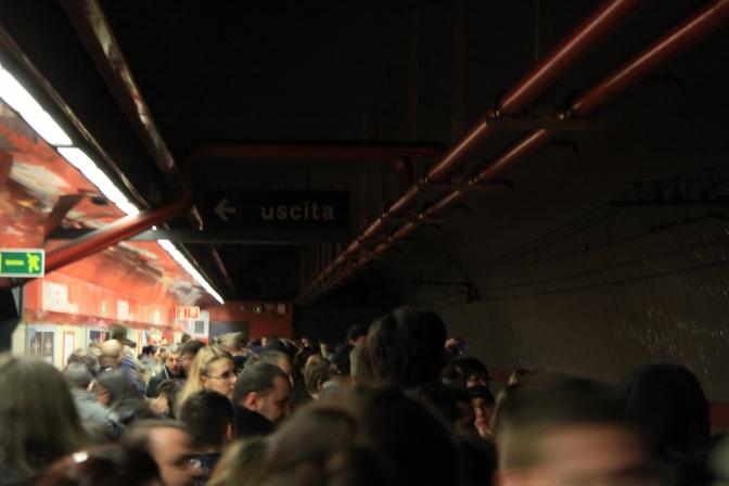 Ruuhkaa metrossa
