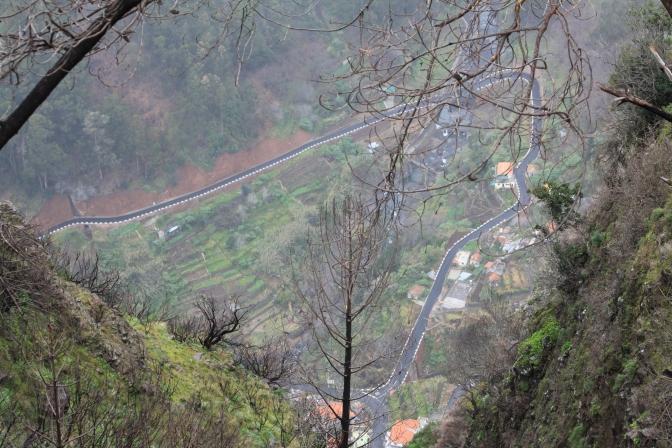 Näkymä Miradourolta alas nunnien laaksoon. Mun jalat oli ihan spagettia tossa reunalla.
