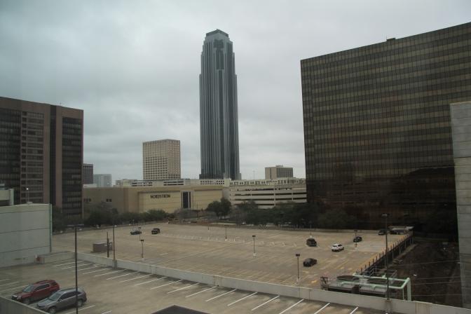 Näkymä Hilton Garden Inn hotellin ikkunasta.