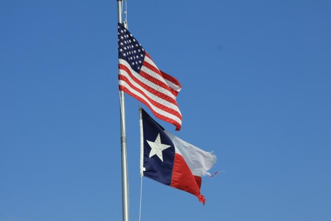 Yhdysvaltojen ja Texasin liput