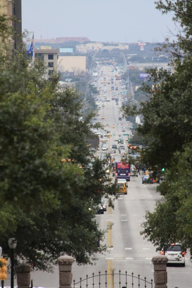 South Congress Avenue nähtynä Texas Capitolilta