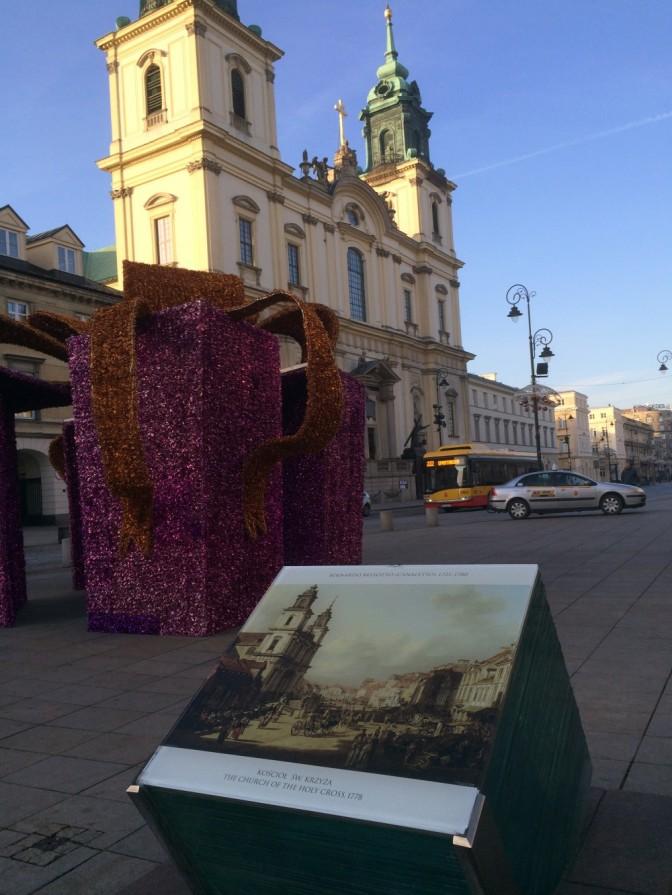 Tämä oli aika hieno idea. Tuohon lasikuution päälle oli laitettu kopio Canaletton maalauksesta, jossa näytettiin miltä kaupunki näytti vuonna 1778.