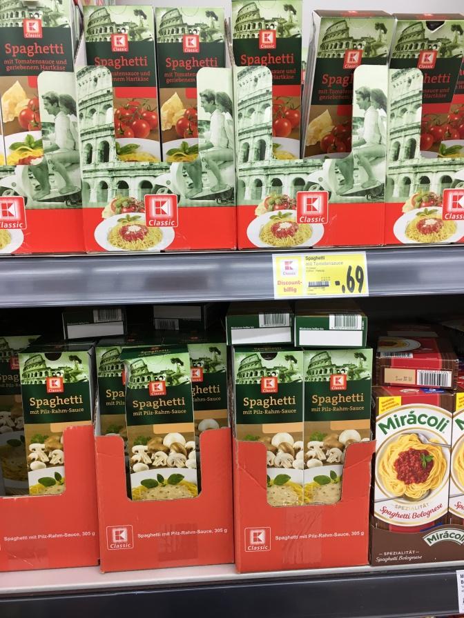 Kahden hengen pasta-ateria 0,69 e.