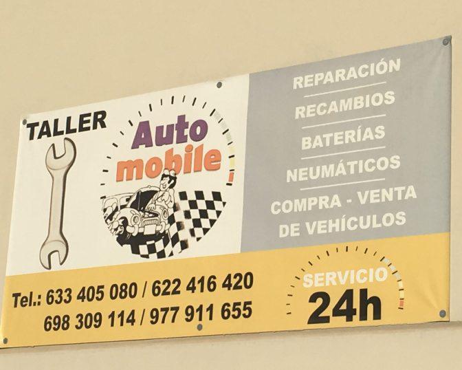 Jos satutte tarviimaan autonkorjausta Tarragonan kieppeillä, niin tässä tiedot :)