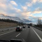 27.12.2019 Lauterbrunnenista takaisin EU:n alueelle eli Ranskaan matkaparkkiin La-Roche-de-Gluniin
