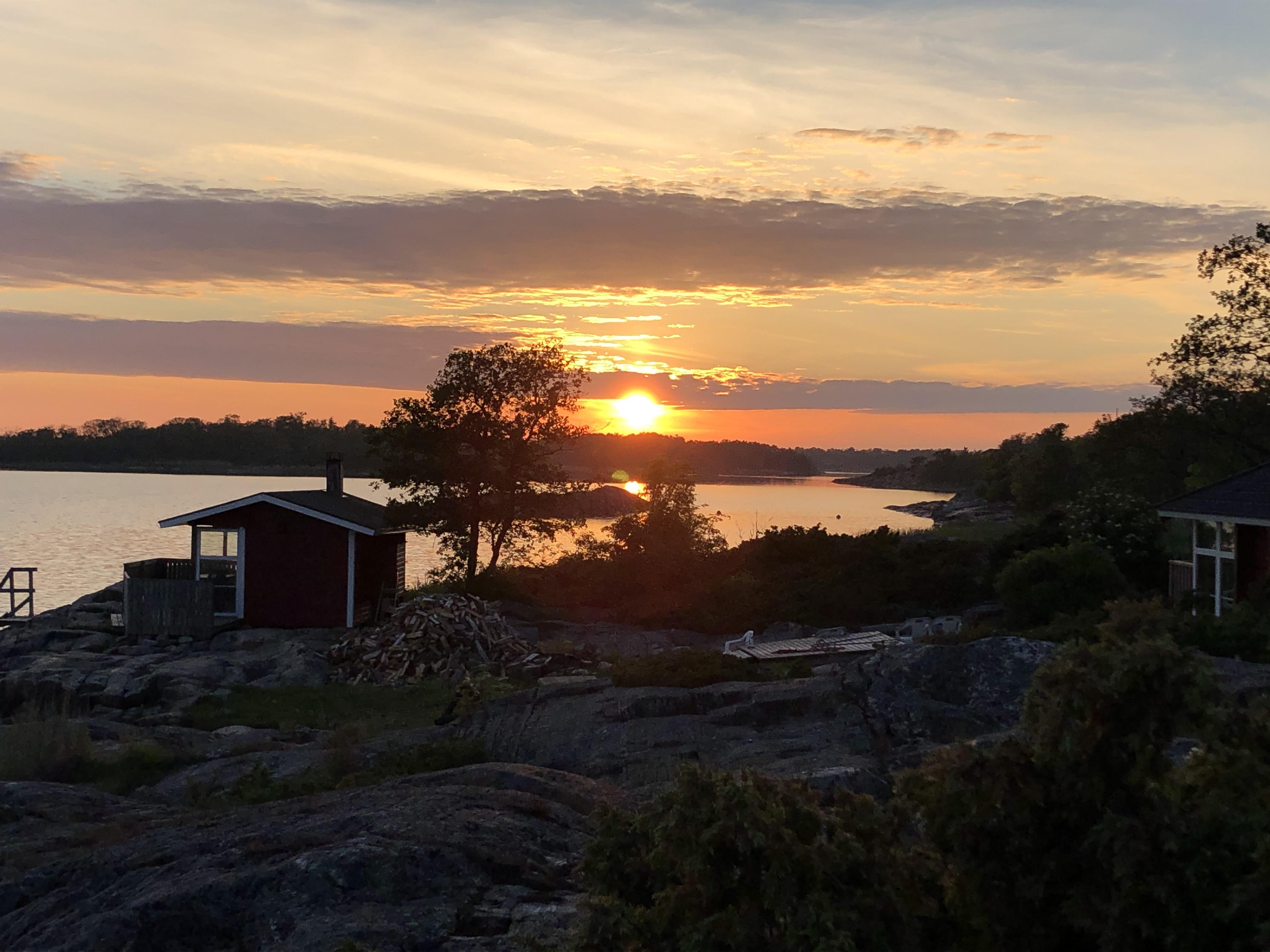 Auringonlasku, Ahvenanmaa, Åland